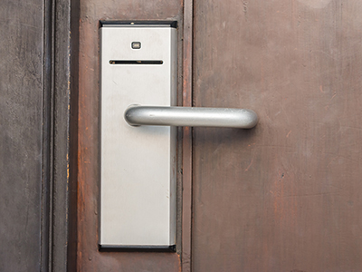 Access Control Door handle with card access