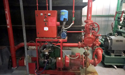 Essential Building Services including Fire Systems and their support systems need to be properly maintained water pumps