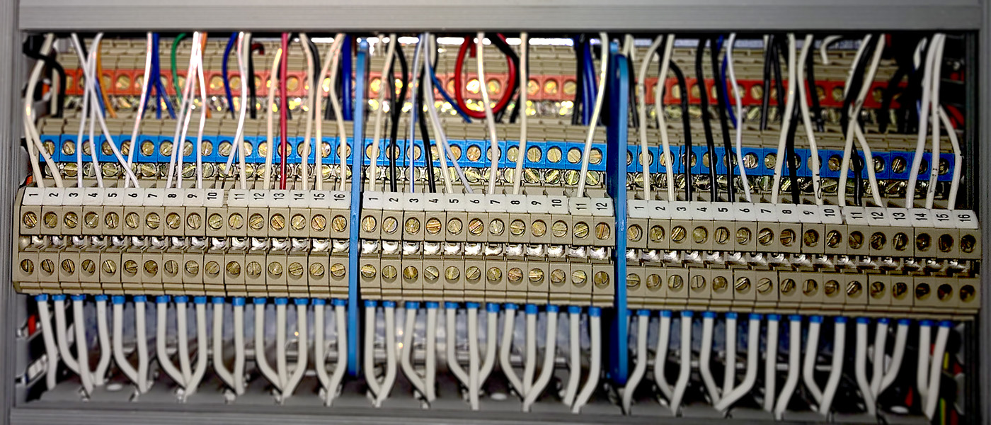 Terminal Strip in an Electrical Control Switchboard