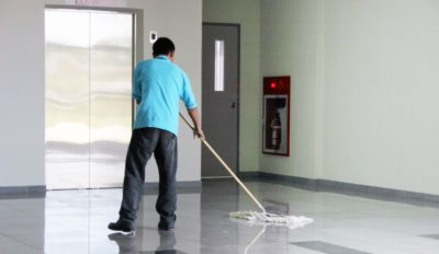 Tenant apartment building cleaning