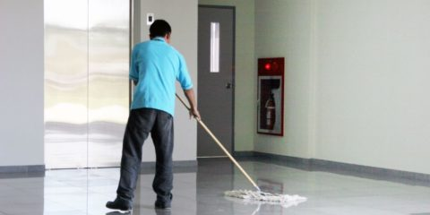 Building Management commercial Tenant office floor cleaning