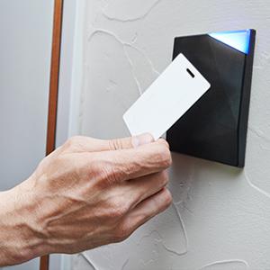 Access Control Swipe card in use
