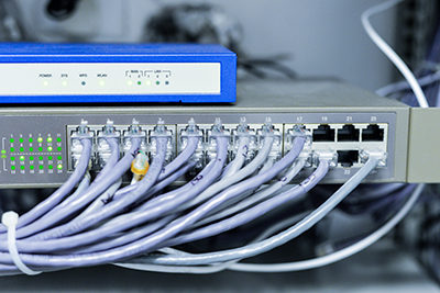 Case Studies - building systems integration commercial building network switch and router