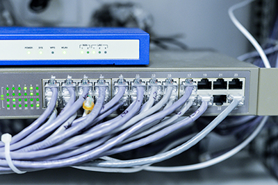 commercial building network switch and router
